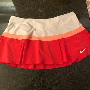 Pink and white Nike tennis skirt size medium